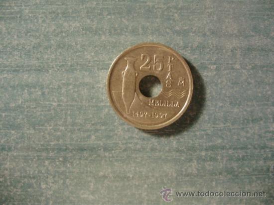 Monedas Juan Carlos I: 25 PESETAS 1997 - Foto 2 - 35192149