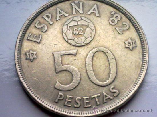 ESPAÑA 50 PESETAS 1980, MUNDIAL DE FUTBOL ESPAÑA 82 (Numismática - España Modernas y Contemporáneas - Juan Carlos I)