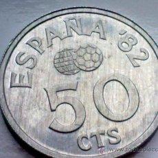Monedas Juan Carlos I: ESPAÑA 50 CENTIMOS MUNDIAL FUTBOL 1982. Lote 35329755