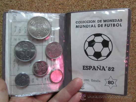 CARTERA MUNDIAL 82 ESTRELLA 80 6 VALORES (Numismática - España Modernas y Contemporáneas - Juan Carlos I)