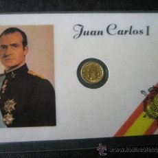 Monedas Juan Carlos I: TARJETA CONMEMORATIVA-JUAN CARLOS I-MONEDA INSERTA-PERFECTA-VER FOTOS.. Lote 29952483