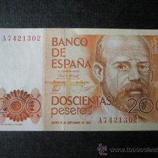 Monedas Juan Carlos I: 2 BILLETES DE ESPAÑA-2X200 PESETAS-SERIE A7421302.3-LEOPOLDO ALAS CLARÍN-CORRELATIVOS-PERFECTO.. Lote 35838967