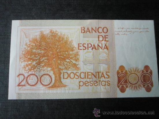 Monedas Juan Carlos I: 2 BILLETES DE ESPAÑA-2x200 PESETAS-Serie A7421302.3-LEOPOLDO ALAS CLARÍN-CORRELATIVOS-PERFECTO. - Foto 2 - 35838967
