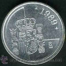 Monedas Juan Carlos I: 1 PESETA PLATA 1989 DE JUAN CARLOS I SC LEER DENTRO DESCRIPCION. Lote 125974767