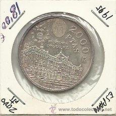 Monedas Juan Carlos I: 2000 PESETAS PLATA AÑO 1995. Lote 36037730
