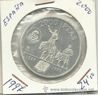 2000 PESETAS PLATA AÑO 1997 CERVANTES (Numismática - España Modernas y Contemporáneas - Juan Carlos I)