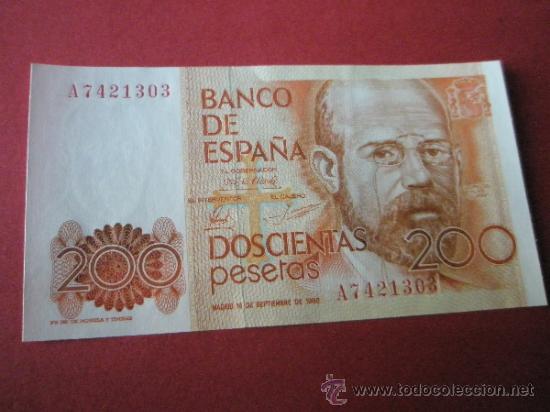 Monedas Juan Carlos I: 2 BILLETES DE ESPAÑA-2x200 PESETAS-Serie A7421302.3-LEOPOLDO ALAS CLARÍN-CORRELATIVOS-PERFECTO. - Foto 3 - 35838967