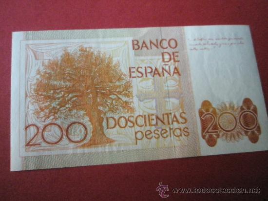 Monedas Juan Carlos I: 2 BILLETES DE ESPAÑA-2x200 PESETAS-Serie A7421302.3-LEOPOLDO ALAS CLARÍN-CORRELATIVOS-PERFECTO. - Foto 4 - 35838967