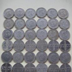 Monnaies Juan Carlos I: LOTE DE 36 MONEDAS DE 50 CENTIMOS DE PTAS. EN ALUMINIO - ESTADO ESPAÑOL AÑO 1966.. Lote 36525673