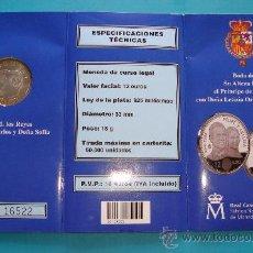 Monedas Juan Carlos I: MONEDA DE PLATA 925 12€ BODA DE SU ALTESA REAL EL PRINCIPE DE ASTURIAS Y DOÑA LETIZIA ORTIZ. Lote 36616532