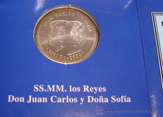 Monedas Juan Carlos I: MONEDA de PLATA 925 12€ BODA DE SU ALTESA REAL EL PRINCIPE DE ASTURIAS Y DOÑA LETIZIA ORTIZ - Foto 2 - 36616532