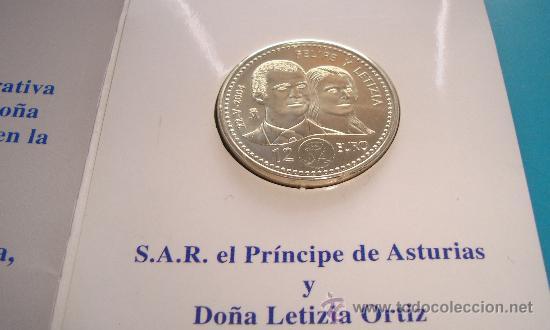 Monedas Juan Carlos I: MONEDA de PLATA 925 12€ BODA DE SU ALTESA REAL EL PRINCIPE DE ASTURIAS Y DOÑA LETIZIA ORTIZ - Foto 4 - 36616532