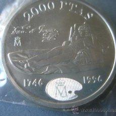 Monedas Juan Carlos I: MONEDA DE ESPAÑA-2000 PESETAS-1996-PLATA-FCO DE GOYA-MAJA DESNUDA-NUEVA-.. Lote 37969434