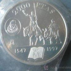 Monedas Juan Carlos I: -MONEDA DE ESPAÑA-2000 PESETAS-1997-PLATA-D.QUIJOTE-NUEVA-.. Lote 37971150