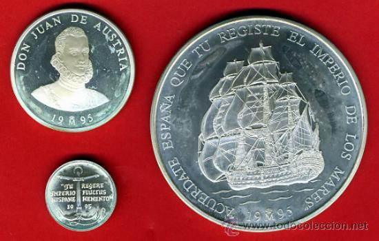 3 MONEDAS, 1 5 Y 25 ECU ECUS, 1995 CINCUENTIN , PLATA , LEER , ORIGINAL, AL53 (Numismática - España Modernas y Contemporáneas - Juan Carlos I)