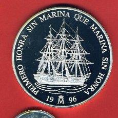 Monedas Juan Carlos I: 3 MONEDAS, 1 5 Y 25 ECU ECUS, 1996 CINCUENTIN , PLATA , LEER , ORIGINAL, AL54. Lote 37985388