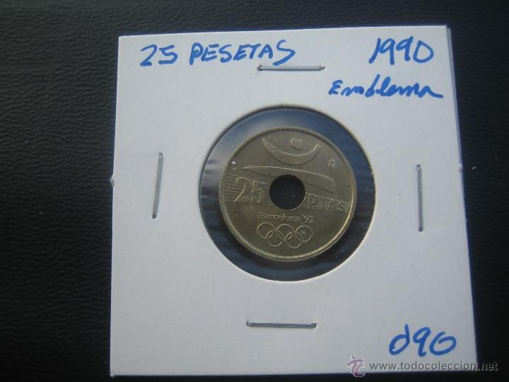 25 PESETAS 1990 EMBLEMA (Numismática - España Modernas y Contemporáneas - Juan Carlos I)