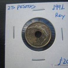 Monedas Juan Carlos I: 25 PESETAS 1991 REY. Lote 39375875