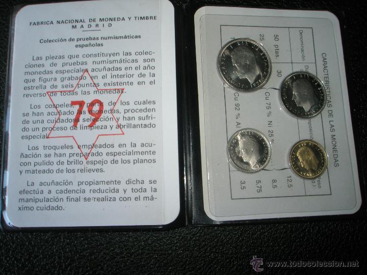 CARTERA MONEDAS-PRUEBAS NUMISMÁTICAS F.N.M.T-ESPAÑA-1979-JUAN CARLOS I-ORIGINALES-NUEVAS-. (Numismática - España Modernas y Contemporáneas - Juan Carlos I)