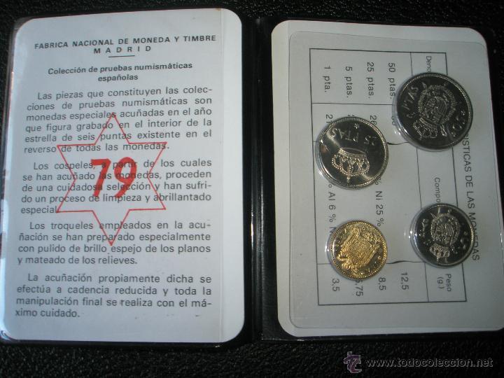 Monedas Juan Carlos I: CARTERA MONEDAS-PRUEBAS NUMISMÁTICAS F.N.M.T-ESPAÑA-1979-JUAN CARLOS I-ORIGINALES-NUEVAS-. - Foto 3 - 39365050