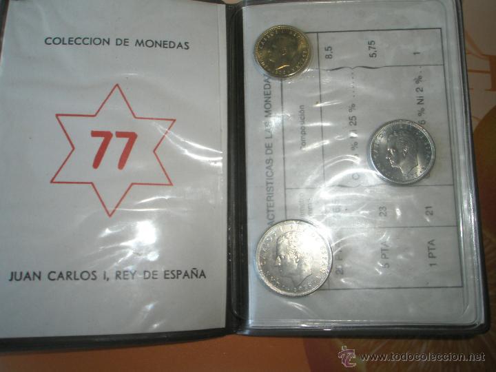 Monedas Juan Carlos I: *9919-CARTERA MONEDAS-PRUEBAS NUMISMATICAS-F.N.M.T-1977-ESPAÑA-JUAN CARLOS I-ORIGINALES-. - Foto 6 - 39359964
