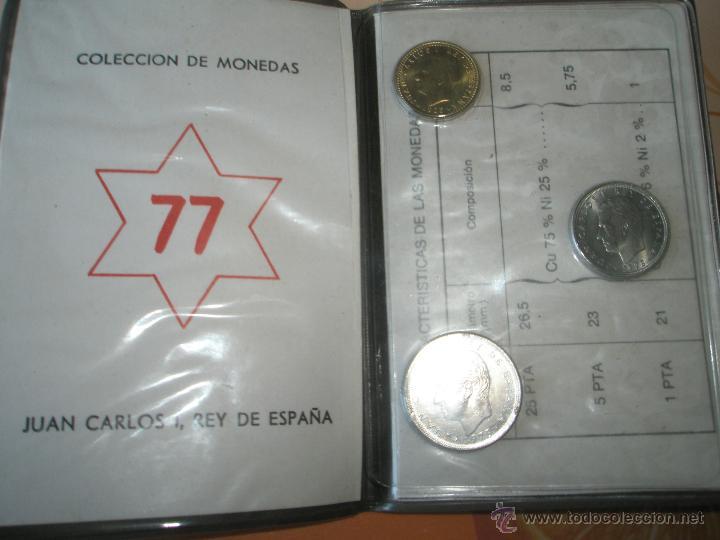 Monedas Juan Carlos I: *9919-CARTERA MONEDAS-PRUEBAS NUMISMATICAS-F.N.M.T-1977-ESPAÑA-JUAN CARLOS I-ORIGINALES-. - Foto 5 - 39359964