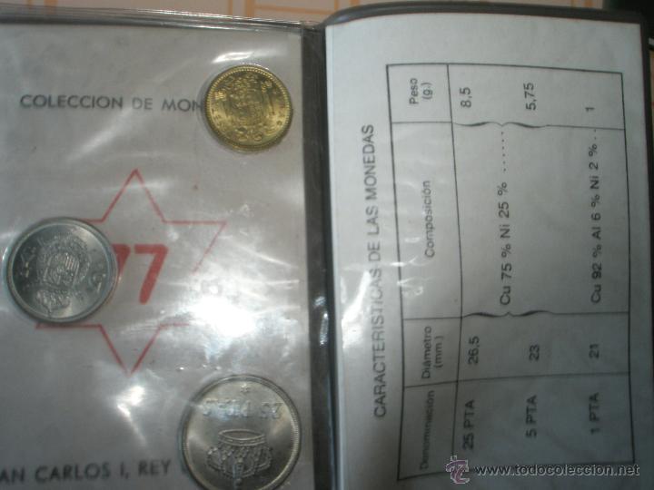 Monedas Juan Carlos I: *9919-CARTERA MONEDAS-PRUEBAS NUMISMATICAS-F.N.M.T-1977-ESPAÑA-JUAN CARLOS I-ORIGINALES-. - Foto 7 - 39359964