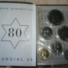 Monedas Juan Carlos I: CARTERA MONEDAS-SERIE NUMISMATICA-ESPAÑA-MUNDIAL ESPAÑA 82*80-ORIGINALES-.. Lote 39404174