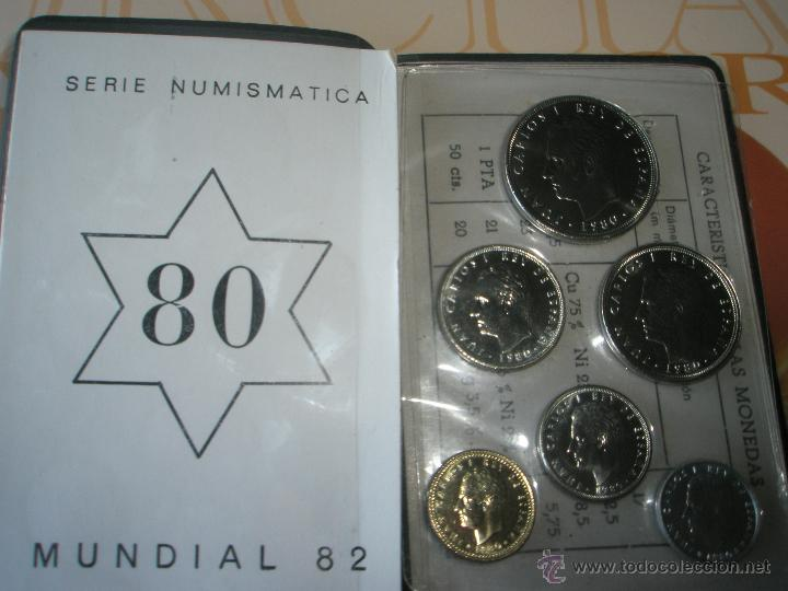 Monedas Juan Carlos I: CARTERA MONEDAS-SERIE NUMISMATICA-ESPAÑA-MUNDIAL ESPAÑA 82*80-ORIGINALES-. - Foto 10 - 39404174