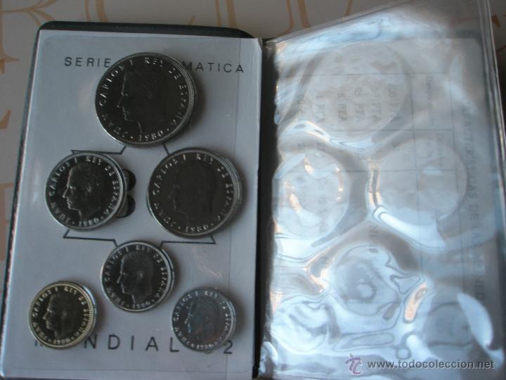 Monedas Juan Carlos I: CARTERA MONEDAS-SERIE NUMISMATICA-ESPAÑA-MUNDIAL ESPAÑA 82*80-ORIGINALES-. - Foto 6 - 39404174
