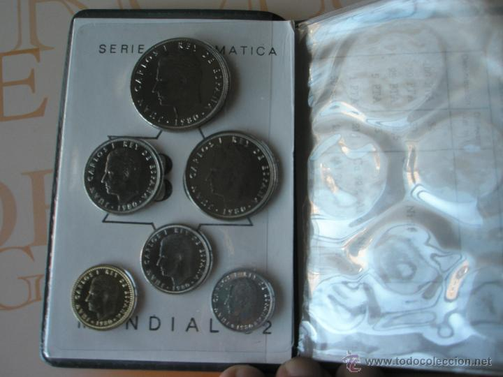 Monedas Juan Carlos I: CARTERA MONEDAS-SERIE NUMISMATICA-ESPAÑA-MUNDIAL ESPAÑA 82*80-ORIGINALES-. - Foto 7 - 39404174