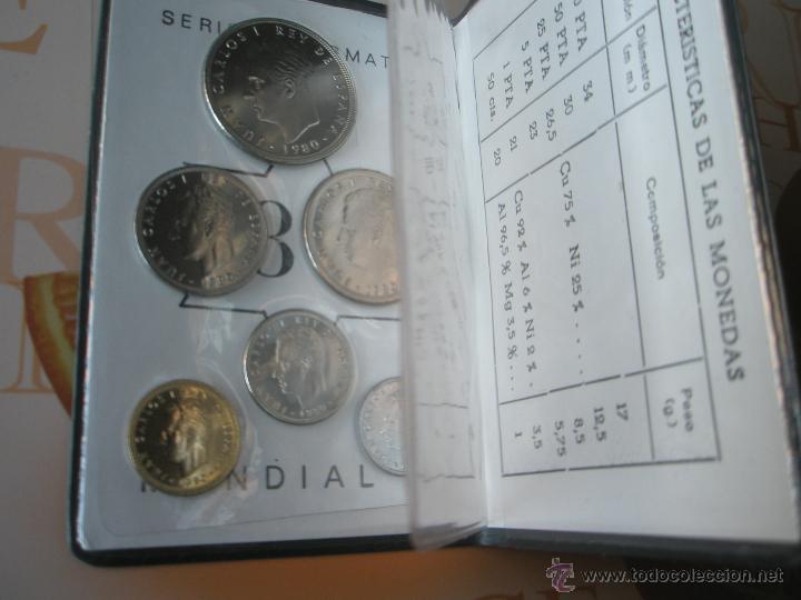 Monedas Juan Carlos I: CARTERA MONEDAS-SERIE NUMISMATICA-ESPAÑA-MUNDIAL ESPAÑA 82*80-ORIGINALES-. - Foto 5 - 39404174