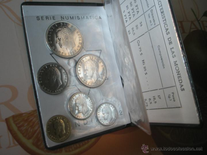Monedas Juan Carlos I: CARTERA MONEDAS-SERIE NUMISMATICA-ESPAÑA-MUNDIAL ESPAÑA 82*80-ORIGINALES-. - Foto 4 - 39404174