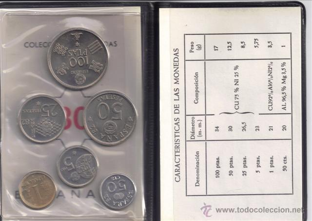 Monedas Juan Carlos I: JUAN CARLOS : CARTERA MONEDAS 1980 ESTRELLA 80 MUNDIAL-82 s/c - Foto 2 - 176747155