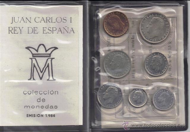 JUAN CARLOS : CARTERA MONEDAS AÑO 1984 S/C (Numismática - España Modernas y Contemporáneas - Juan Carlos I)