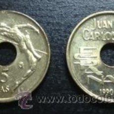 Monedas Juan Carlos I: NUMIS BILBAO : 25 PESETAS 1990 REY SALTADOR SIN CIRCULAR SC ESPAÑA JUAN CARLOS I. Lote 98257714