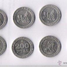 Monedas Juan Carlos I: JUAN CARLOS I LOTE DE 8 MONEDAS DE 200 PTAS. - TODAS DIFERENTES Y EBC. Lote 40000117
