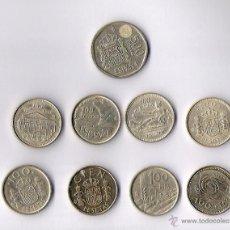 Monedas Juan Carlos I: LOTE MONEDAS JUAN CARLOS I UNA DE 500 PTAS. Y 8 DE 100 PTAS. EBC. Lote 40000424