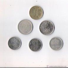 Monedas Juan Carlos I: JUAN CARLOS I LOTE DE 6 MONEDAS UNA 500 PTAS. DOS DE 50 PTAS. Y DOS DE 25 PTAS. . Lote 40001379