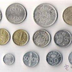 Monedas Juan Carlos I: JUAN CARLOS I LOTE DE 14 MONEDAS TODAS DIFERENTES Y MBC. Lote 253135540