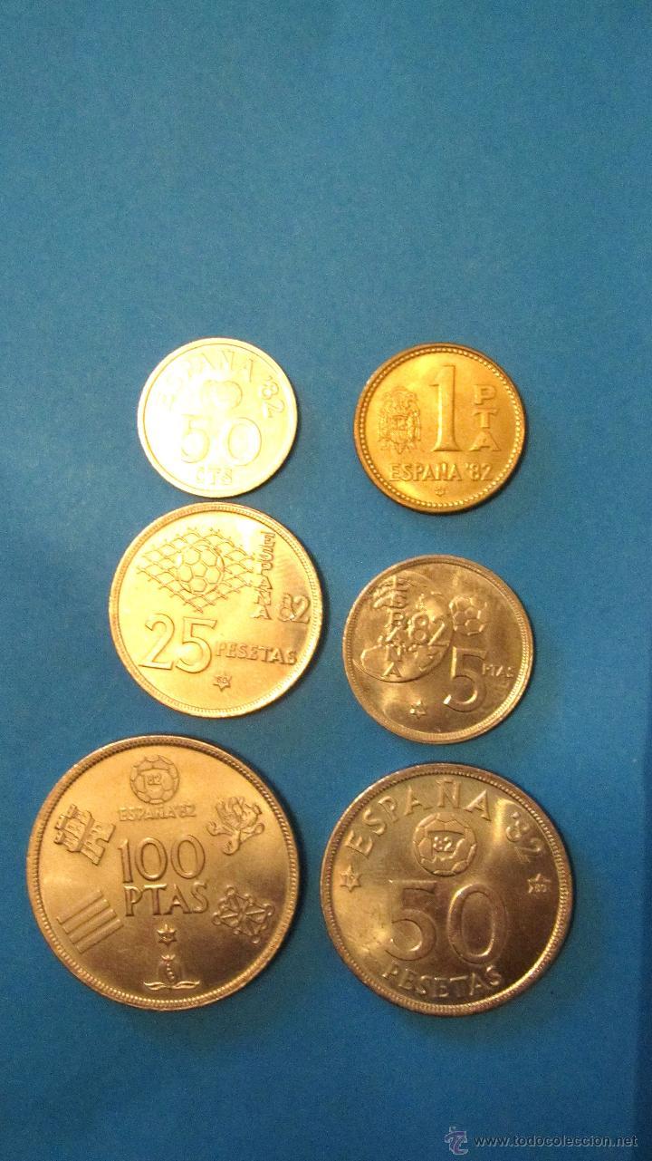 Monedas Juan Carlos I: PEQUEÑA COLECCION MONEDAS JUAN CARLOS 1º- MUNDIAL 82. - Foto 2 - 40080746
