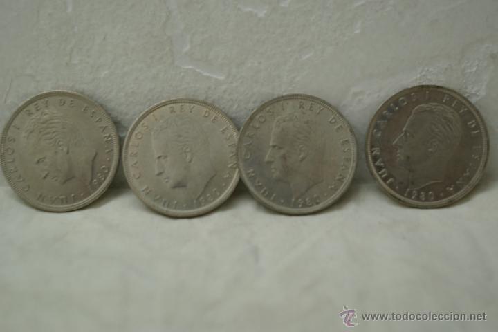 LOTE DE 4 MONEDAS DE 100 PTAS DEL MUNDIAL 82 DE JUAN CARLOS I (Numismática - España Modernas y Contemporáneas - Juan Carlos I)