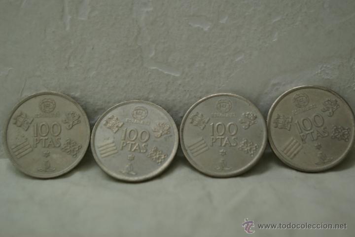 Monedas Juan Carlos I: LOTE DE 4 MONEDAS DE 100 PTAS DEL MUNDIAL 82 DE JUAN CARLOS I - Foto 2 - 40617334