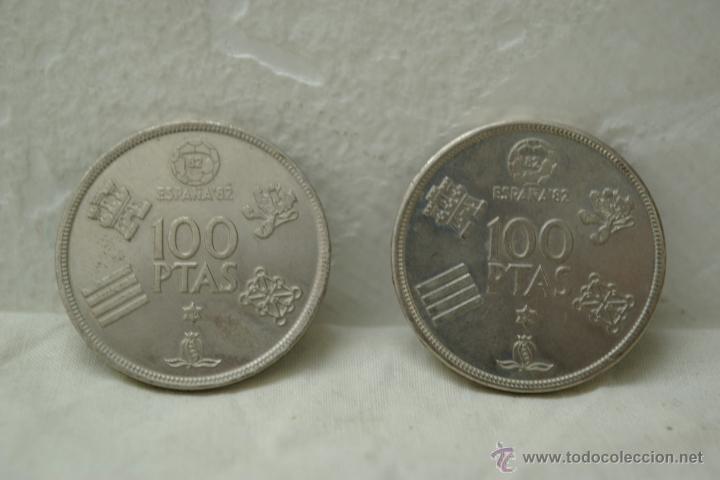 Monedas Juan Carlos I: LOTE DE 4 MONEDAS DE 100 PTAS DEL MUNDIAL 82 DE JUAN CARLOS I - Foto 3 - 40617334