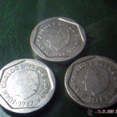 Monedas Juan Carlos I: LOTE DE TRES MONEDAS DE 200 PESETAS. JUAN CARLOS. AÑOS 1986. 1987. 1988. EBC.. Lote 84388810
