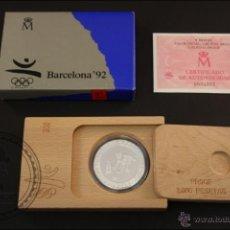 Monedas Juan Carlos I: ESTUCHE FNMT - OLIMPIADAS BARCELONA 92. BOLOS - AÑO 1991 SERIE 3 - 2000 PTS - PLATA 925 - FDC/PROOF. Lote 41333280