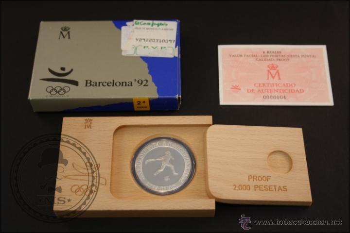 ESTUCHE FNMT - OLIMPIADAS BARCELONA 92.CESTA PUNTA - 1991 SERIE 2 - 2000 PTS - PLATA 925 - FDC/PROOF (Numismática - España Modernas y Contemporáneas - Juan Carlos I)
