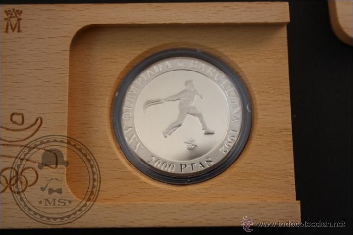 Monedas Juan Carlos I: Estuche FNMT - Olimpiadas Barcelona 92.Cesta Punta - 1991 Serie 2 - 2000 Pts - Plata 925 - FDC/Proof - Foto 2 - 41333396