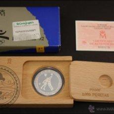 Monedas Juan Carlos I: ESTUCHE FNMT - OLIMPIADAS BARCELONA 92. BALONCESTO - 1991 SERIE 2 - 2000 PTS - PLATA 925 - FDC/PROOF. Lote 41333544