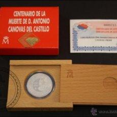 Monedas Juan Carlos I: ESTUCHE FNMT - CENTENARIO CÁNOVAS DEL CASTILLO - 1997 - 1000 PTS - PLATA 925 MILÉSIMAS - FDC/PROOF. Lote 41335381